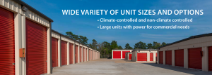 Wide Variety Of Storage Unit Sizes and Options