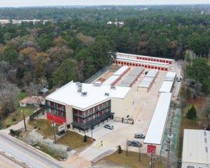Aerial Photo Self Storage Facility Conroe Texas