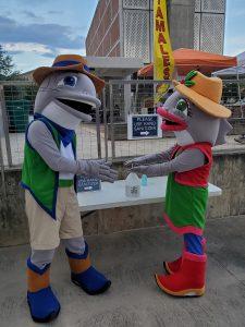 Conroe Cajun Catfish Festival Mascots