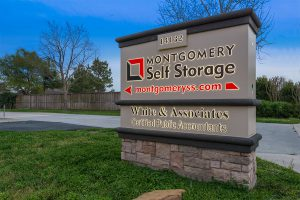 Montgomery Self Storage Schroeder Rd Sign